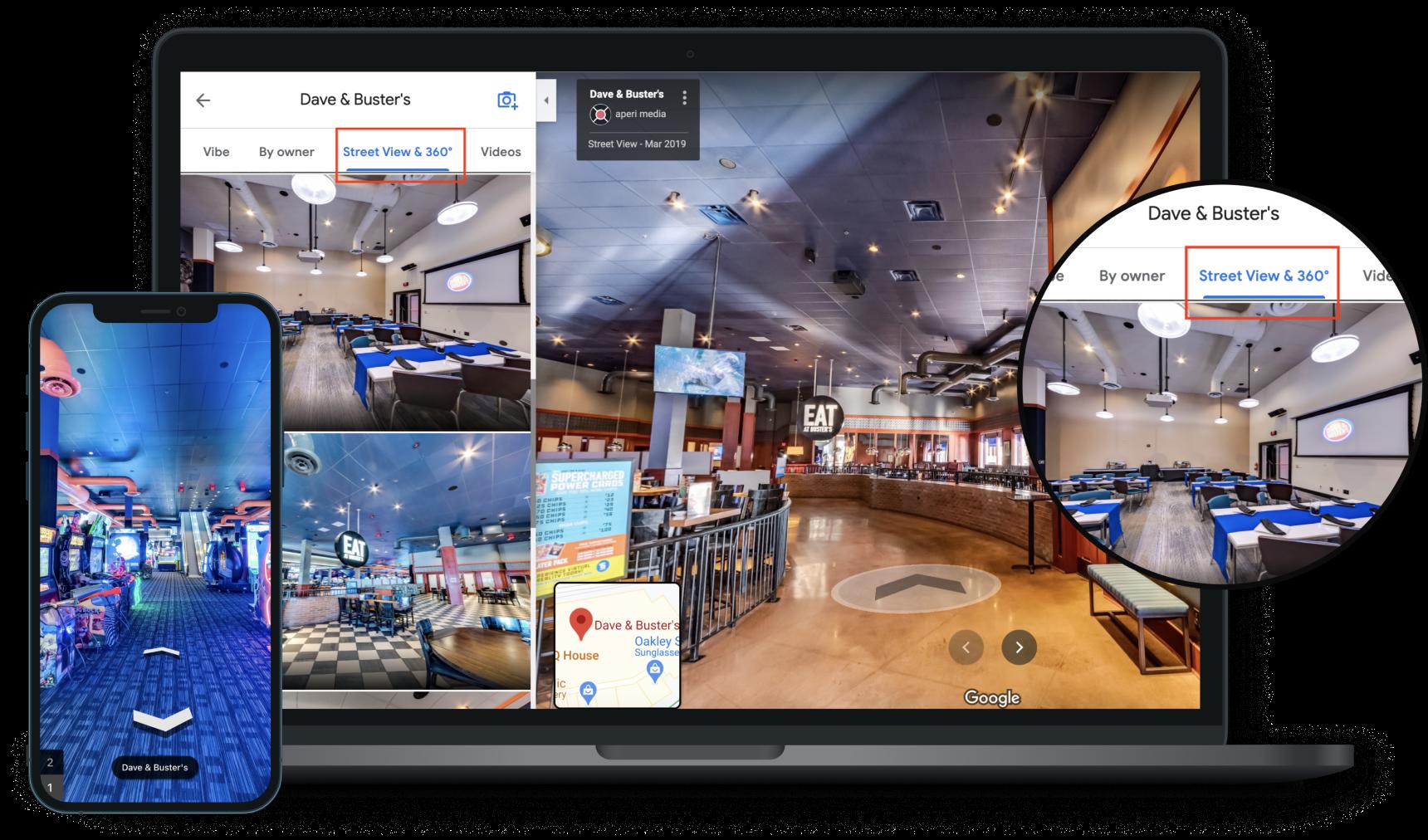 Event Venues Google 360° Virtual Tour