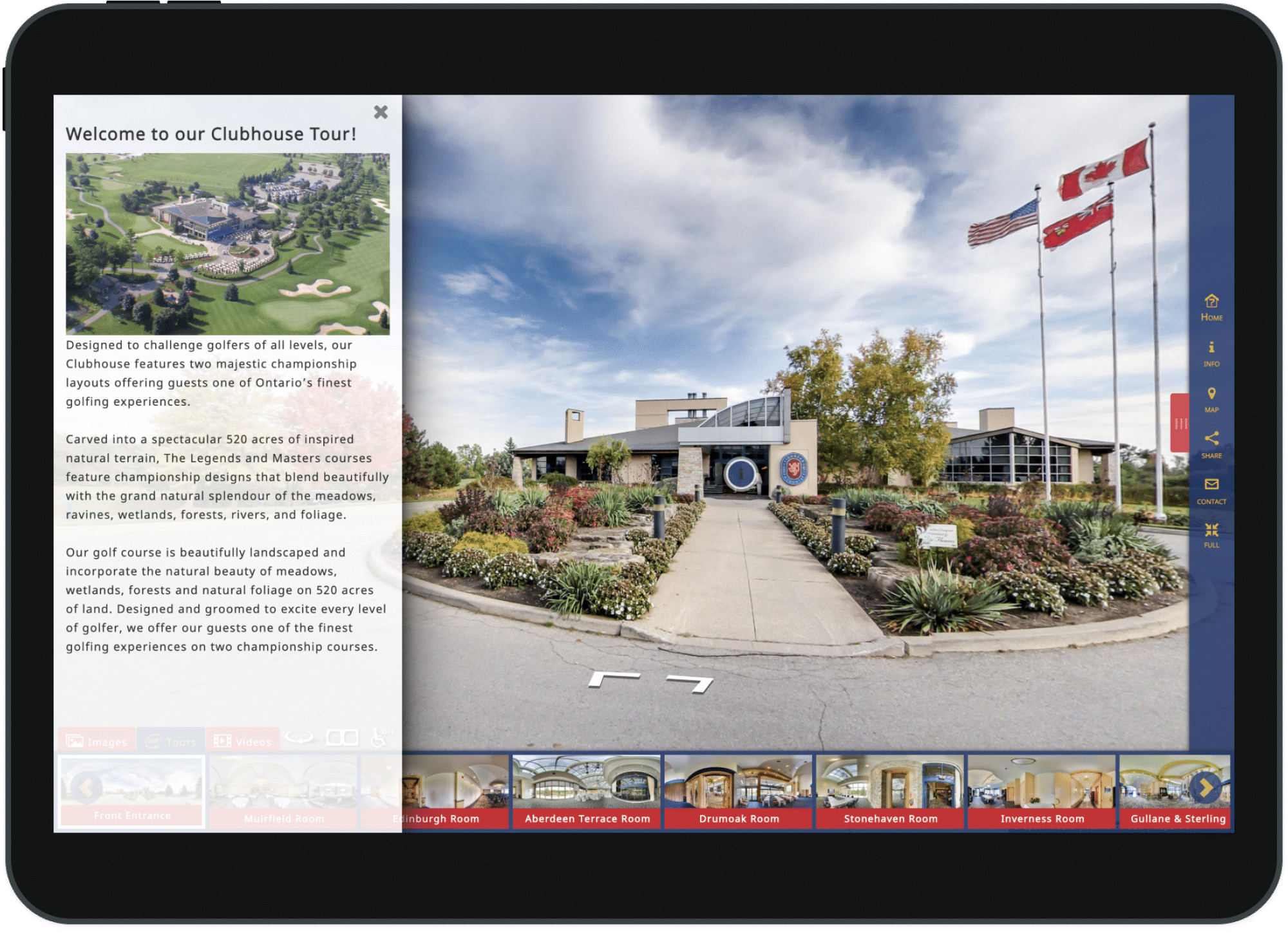 Golf Club Custom 360° Virtual Tour