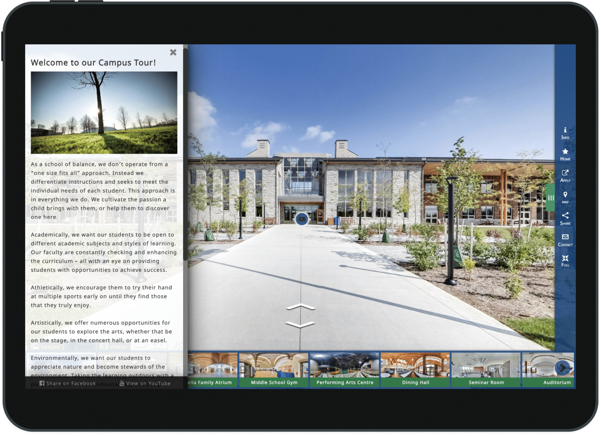 Private School Custom 360° Virtual Tour